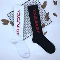 Wholesale Teen Knee High - Unisex Skateboard Knee High Socks Teen Adult Sock FALL Winter Letter Printed Cotton Socks Men and Women Middle Socks High Sock Leg Warmers
