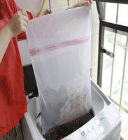 mesh-taschen zum waschen von kleidung großhandel-3 Größe / Set Reißverschluss Mesh Wäschesäcke - Unterwäsche BH Socken Waschmaschine Tasche - Kleidung Aufbewahrungstasche Schutznetz