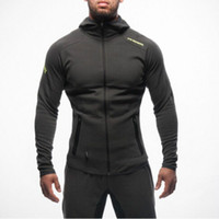 Wholesale Workout Hoodies - Mens Bodybuilding Hoodies Gym Workout Shirts Hooded Sport Suits Tracksuit Men Chandal Hombre Gorilla wear Animal