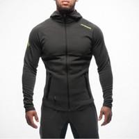 sudaderas deportivas para hombres al por mayor-Sudaderas para culturismo para hombre Gimnasio Workout Camisas con capucha Sport Trajes Chándal Chandal Hombre Gorila wear Animal