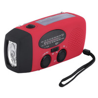 Wholesale Crank Radios - HY-88WB Protable Solar Radio Hand Crank Self Powered Phone Charger 3 LED Flashlight AM FM WB Radio Waterproof Emergency Survival Red
