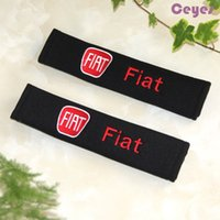 Wholesale Fiat Bravo Cars - Car Safety Belt Cover for Fiat 500 punto linea stilo bravo Seat Belt Cover Shoulder Pad Car Accessories Styling 2PCS LOT