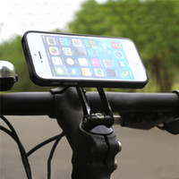 Barato Montagem De Telefone De Bicicleta Ajustável-Universal Adjustable Mobile Phone Holder Bicicleta Bike Head Stem Mount Stand Bracket Para Samsung para iPhone6 ​​6s 7 Plus para Huawei