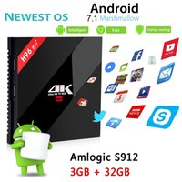 Wholesale Mini Pc Dlna - H96pro+ Smart Android TV Box Android 7.1 Amlogic S912 Octa Core UHD 4K 3GB   32GB Mini PC 2.4G & 5.0G WiFi DLNA Media Player TX2 S10 V2799