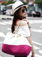 Wholesale Oversized Chain - Casual Large Plaid Handbags Ladies Party Purse Women Clutch Patchwork Famous Shoulder Oversized Handbag Messenger Crossbody Bags SV000443