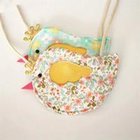 Wholesale Purse Birds - NEW bag two colors 10pcs lot The new children's bag change purse The bird bag coin purse