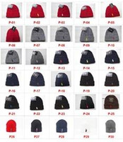 Wholesale Logo Knit Caps - Hot Sale Factory Wholesale Free Shipping Fashion Brand Logo Winter Hat High Quality Wool Knitted Beanies Skully Hats gorro Bonnet beanie cap