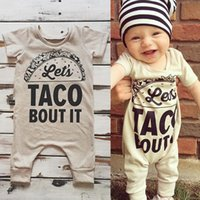 Wholesale New Toddler Girl Clothing - 2017 Baby Romper Newborn Letter Print Bodysuit Girl Boy Fashion Summer Fall Clothes Toddlers Long Sleeve Kids Clothing Cute New