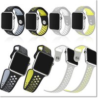 Wholesale Silicon Rubber Watch Strap - New design Rubber Silicon Sports Bands for Apple Watch Series 2 Band 38mm 42mm Wrist band Strap Replacement for Apple Watch