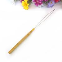 extensiones de cabello tirando de bucle al por mayor-1 piezas de madera Loop Pulling Needle Hair Throwder Tool