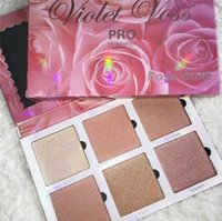 Wholesale Rose Control - Newest Violet Voss PRO Highlighter Rose Gold Palette Face Bronzers & Highlighters Discount Price 6 Color Glow Free DHL Shipping