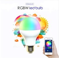 Wholesale 9w Color Changing Led Bulb - AC85-265V 5W 7W 9W RGBW Bluetooth LED Light Bulb Bluetooth 4.0 Smart Lighting Lamp Color Change Dimmable E27 version LED Lamp
