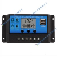 12V / 24V Regulador PWM Solar Charge Controller LCD Display Carregador USB 5V Saída
