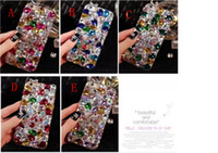 Роскошный цветной камень DIY блеск Rhinestone Crystal Cover Full Big Diamond Bling чехол для iPhone 6 плюс 7 7plus iphone 8 samsung s8 s6 s7