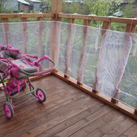 Wholesale Railing Stairs - Wholesale- Railing Stairs Balcony Safety Protecting Net Baby Safety Fence Child Safety Products 2 3 Meters White Color