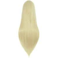 perucas de cabelo artificiais MapofBeauty Long Straight Cosplay Wigs light blonde cor 80cm Ladies High Temperature Fiber Heat Resistant Synthetic ...