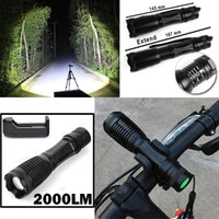 Torcia militare zoomable ricaricabile a torcia elettrica Tactical LED Flashlight Cree XML T6 3800LM 5 Modes + 18650 Battery + Multi-Charger