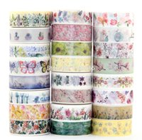 Wholesale- 2016 NOVOS 325 padrões para escolha Tape Flower Print Decorative DIY Sticker / Adhesive Masking Japanese Washi Tape Paper 100pcs / lot
