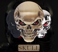 1 pcs de haute qualité Skull Devil 3D moto Emblem Emblem Badge Logo Autocollants Sticker Auto Styling Accessoires autocollants