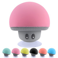 Wholesale Usb Active Speakers - Mini Bluetooth Speaker Wireless Waterproof Speakers Bluetooth Portable Mushroom Heavy Bass Stereo Music Speaker With Mic