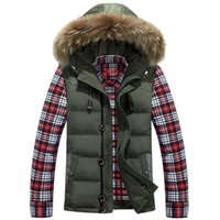 Wholesale Down Vest Men - Wholesale- New Arrivals Autumn Winter Men Women Raccoon Fur Collar Colete Masculino Fashion Thicker Warmer White Duck Down Silm Vest Coat