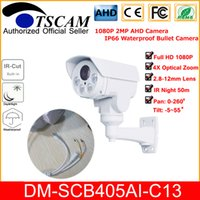 Wholesale zoom camera sony for sale - Group buy TSCAM new HD P MP CCTV AHD Camera DM SCB405AI C13 Array LED mm Optical Zoom Lens Bullet Camera IR Security Cam