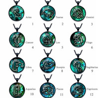Wholesale twelve south wholesale - High quality Twelve Seasons Time Gemstone Glass Necklace Pendant Jewelry WFN357 (with chain) mix order 20 pieces a lot