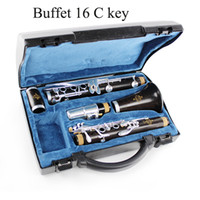 Wholesale Nickel Wood - Wholesale- Buffet Clarinet 16 C Key Crampon Students Clarinet C flute Playing Clarinet Musical Instruments Silver Plated Keys Clarinete
