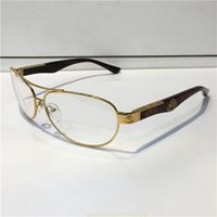 Wholesale Plastic Temples - G-WA-Z05 Luxury Car Brand Maybach Glasses 18K Gold Plated Glasses Pilot Frame Spring Temples Men Brand Designer Glasses With Case