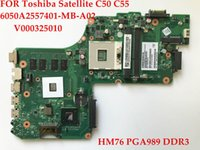 Wholesale laptop motherboards satellite - High quality laptop motherboard FOR Toshiba Satellite C50 C55 V000325010 A2557401 MB A02 HM76 PGA989 Fully tested