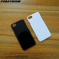 Wholesale Glossy Case Iphone 4s - Glossy Plastic Hard Case For iphone7 iphone 7 6S SE 5S 5C 4S 1.3 mm Solid Black White Color PC Hard Cover