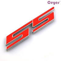 Wholesale 3d car badge toyota - Car Stickers SS Emblems Badge 3D Metal Sticekrs for bmw nissan toyota honda hyundai jeep audi opel Car Metal Stickers