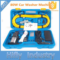 Wholesale 12v Portable Washing Machine - Wholesale- 12V 80W 220V High Pressure Car Washing Portable Washing Machine Electric Car Washer (CE ROHS)