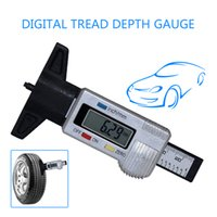 Wholesale Vernier Depth Caliper - 2017 New Mini Car LCD Digital Display Tread Depth Gauge 0-25.4mm ABS Digital Vernier Caliper mm inch switch automatic shut off free shipping