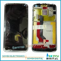 Wholesale Ascend D1 - Wholesale- LCD Screen with Touch Screen with Bezel frame for Huawei Ascend D1 U9500 Quad XL U9510 U9510E Full Set black