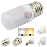 beyaz led ampul e14 toptan satış-E27 E12 E14 B22 E26 4 W LED Işıkları Sıcak Beyaz 110 V 220 V Buzlu Kapak Ampul Lamba