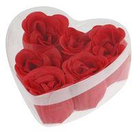 Wholesale Discount Soaps - Wholesale-Discounts 6PCS Bath Body Roses Flower Petal Soap Heart Box Gift Wedding Favor Decoration