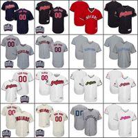 Wholesale Indian Series - Men's Custom Cleveland Indians Jersey 1917 Turn Back 11 Jose Ramirez 10 Encarnacion 12 Lindor World Series Baseball Jerseys