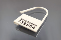 Wholesale Plastic Chastity Cages - Disposable Plastic Locking Pieces Cards Blockade For Male Chastity Cock Cage Lock Fitting 5 Different Numbers Keyholder