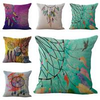 nunca pare venda por atacado-Dreamcatcher indiano nunca parar de sonhar travesseiro capa de almofada de linho de algodão lance fronhas sofá cama fronhas transporte da gota 240452
