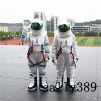 Wholesale Astronaut Costume Adult - 2017 High quality Halloween astronauts mascot dolls costumes adult size fancy walk props costume carnival