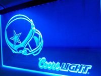 LD458- Dallas Cowboys Casque Coors LED Neon Light Sign