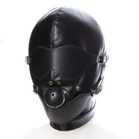Wholesale Sm Ball For Mouth - Sex Toys Headgear With Mouth Ball Gag BDSM Fetish Erotic Bondage Sex Hood For Men Men's Adult Games Sex SM Mask For Couples