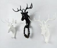 cabra de resina venda por atacado-Animal Elefante Veados Cabeça de Cabra de Cavalo Gancho Resina Artesanato Chave / Cap / Roupas Garra Animal 3D Mural Decorativo Gancho Ornamento Gancho