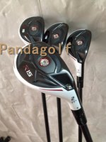 Wholesale Hybrid Club Head Covers - Golf R15 Hybrid Clubs #2#3#4#5 with graphite shaft golf clubs R15 Wood Set Resuce With Head Cover