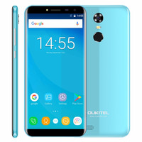 Radio Digital Mayorista Baratos-Venta al por mayor Smartphone 3G 5,5 pulgadas sin bordes Android 7,0 Quad Core 2 GB RAM 16 GB ROM 3000mAh 13MP Huella digital Oukitel C8