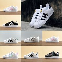 Wholesale Head Light Running - 2017 Top High quality superstar Men Women Running Shoes GOLD standard shell head flat sneakers shoes Zapatillas US size 36-44 Free Shipping