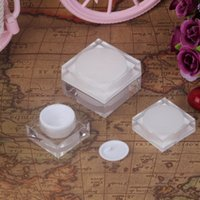 Wholesale Small Travel Jars - 5g 10g Cosmetic Empty Jar Pot Eyeshadow Makeup Face Cream Container Small Bottle Acrylic Travel Outdoor Camping Refillable Bottle