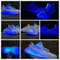 Wholesale New Release Cream White UV Light V2 shoes with box best quality shoes Euro size man woman sneakers right version fashion shoes