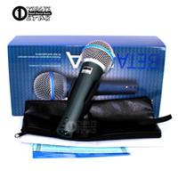 el tel pc toptan satış-Süper Kardioid Dinamik Vokal Kablolu Mikrofon Profesyonel Microfono Mike Için Beta58A Singing Karaoke Mikser Ses Kayıt Video PC Mikrofonun
